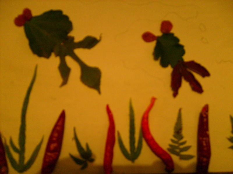 树叶贴画,海底世界