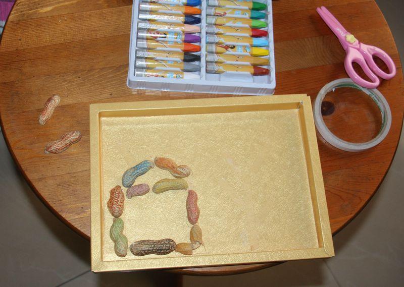 花生壳,粘幅画