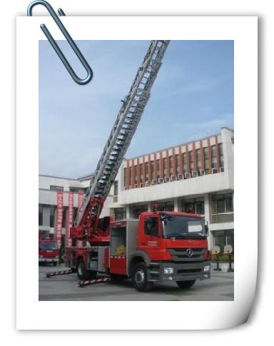消防车来到了点点幼儿园