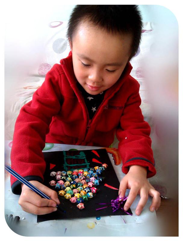 儿童手工制作纸唐装图