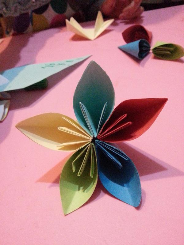 子手工——樱花折纸