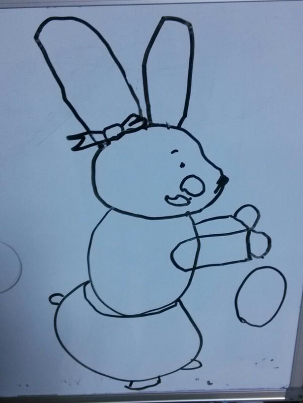 毕加索简笔画作品-糖球蝴蝶结