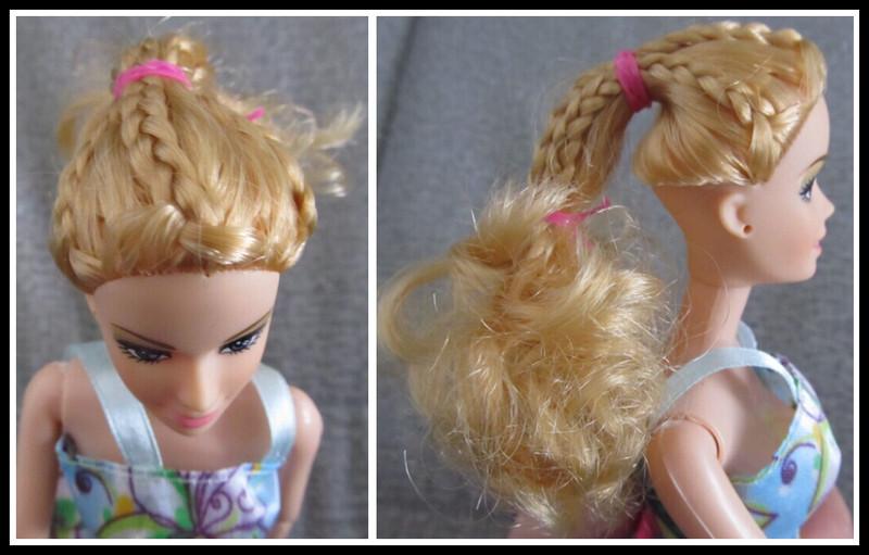 专属我自己的芭比娃娃,兴奋的编头发去打扮