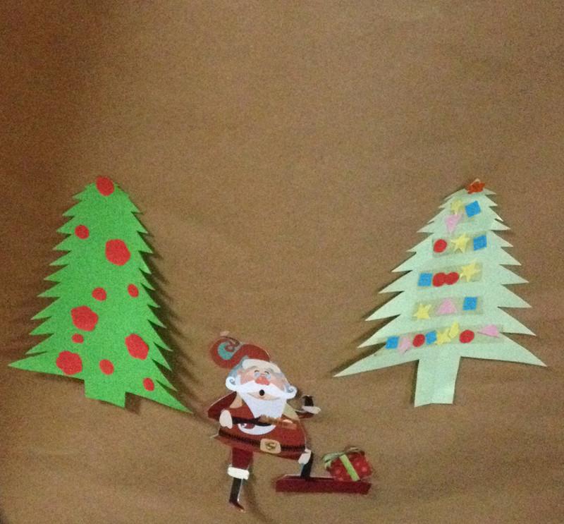 我和宝贝一起制作了个性圣诞树