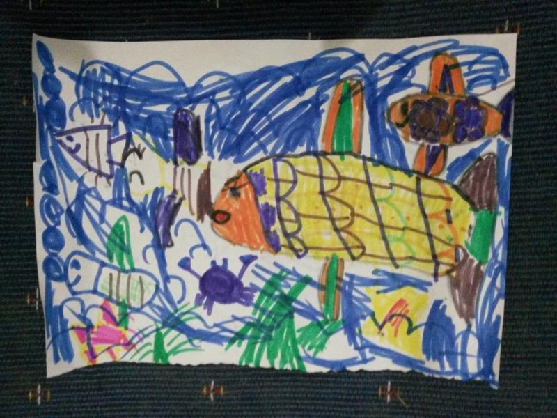 幼儿大海写生图画