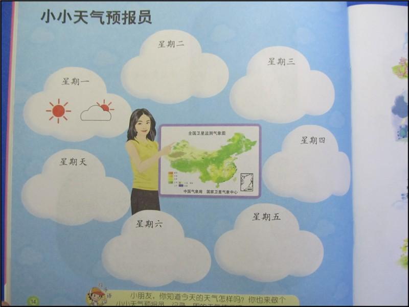 幼儿园作业:学习安全标志和天气预报标志