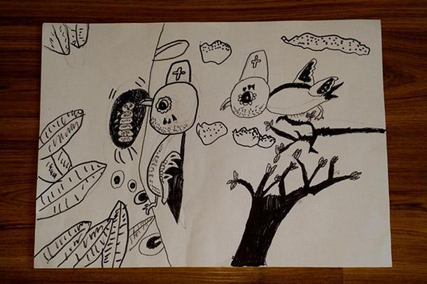 宝贝线描画——猫头鹰 - 宝宝地带