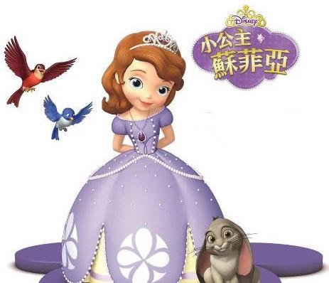 小公主蘇菲亞和媽媽 簡筆畫