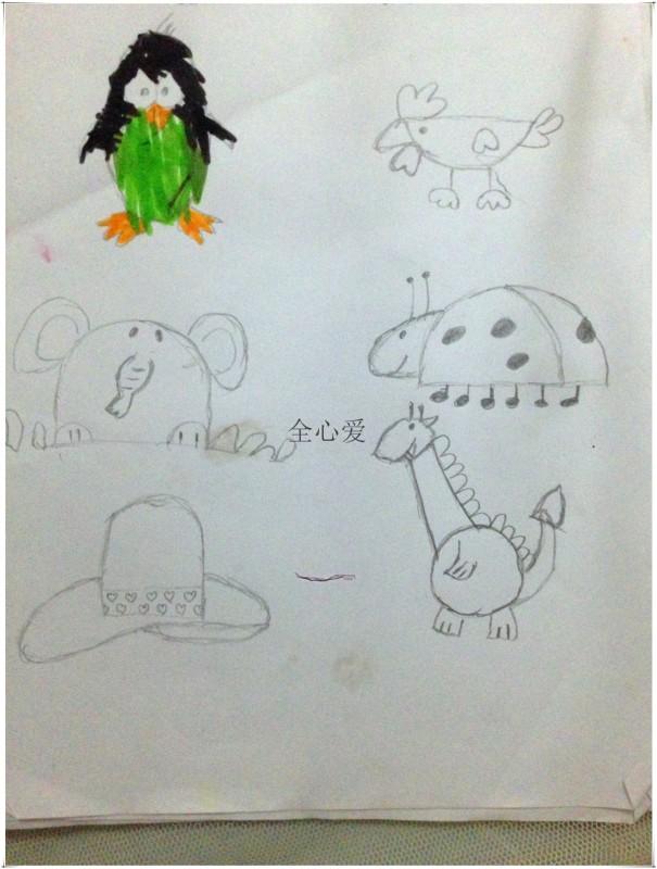 生动有趣的简笔画 鸡是半圆形,猫是圆形 书评图片