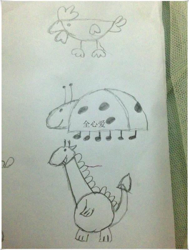 生动有趣的简笔画——《鸡是半圆形