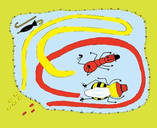 蜜蜂简笔画图画