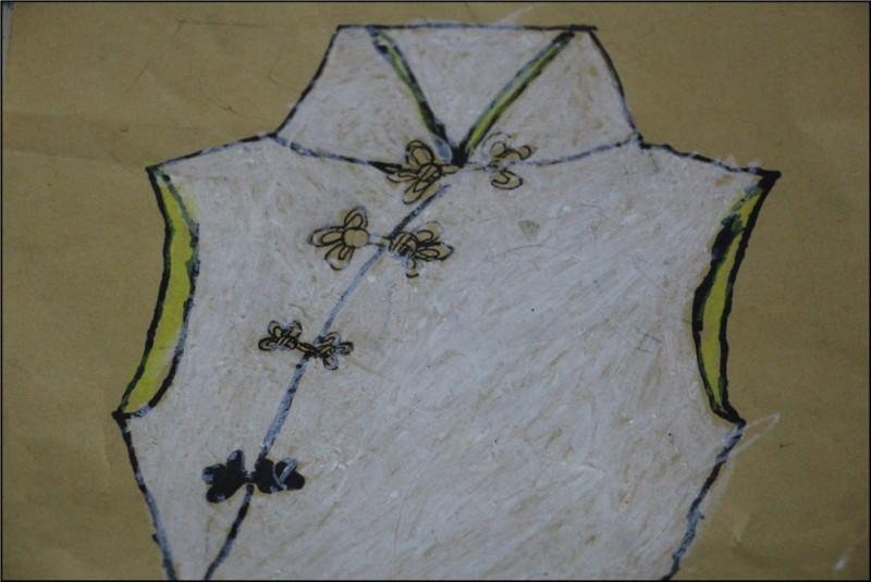 民族服饰绘画,送给妈妈漂亮的旗袍图片