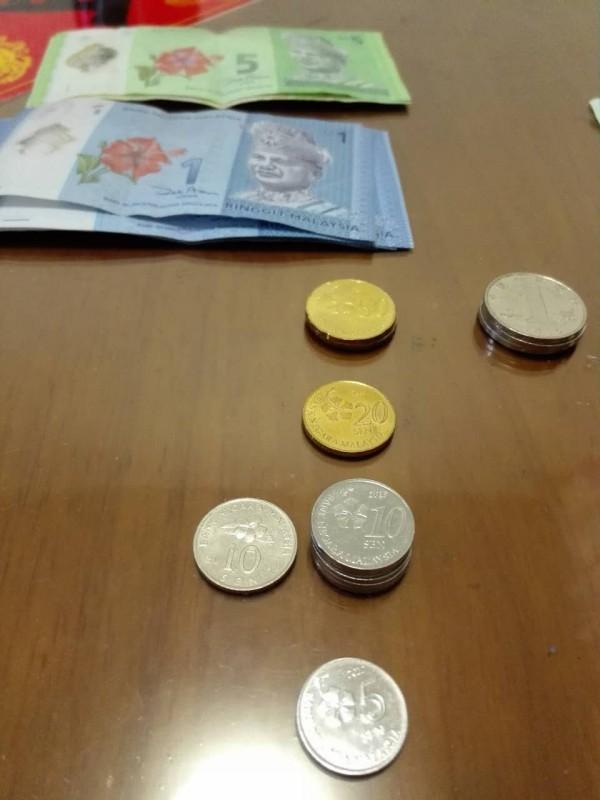 硬币彩色花边素材