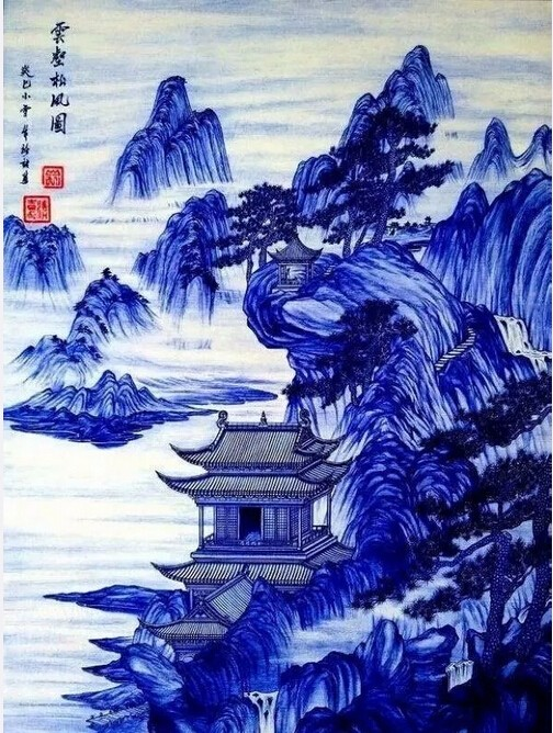 圆珠笔画出来的中国风