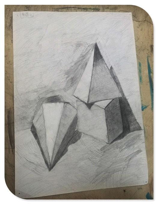 整幅图的画面是由个立体组成的,分别是长方体,圆锥体和圆柱体.