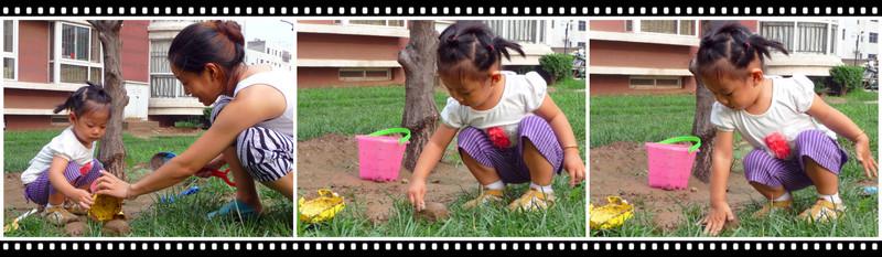 母女亲身体会《淅沥淅沥下雨天》--玩泥8的快乐  有了妈妈的帮助,我的