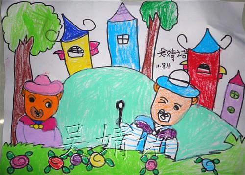 幼儿园 亲子 画画