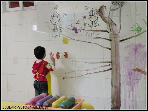 墙上简单画画图片