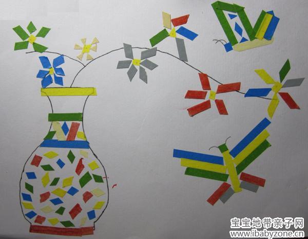 童真童趣 手工diy [邯郸]有趣的创意帖纸画        她自己起名字叫
