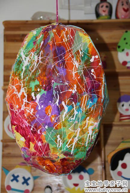 蛋壳贴画水果
