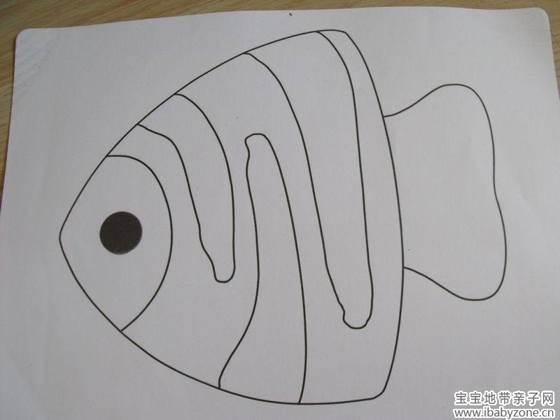 立体鱼手绘素描