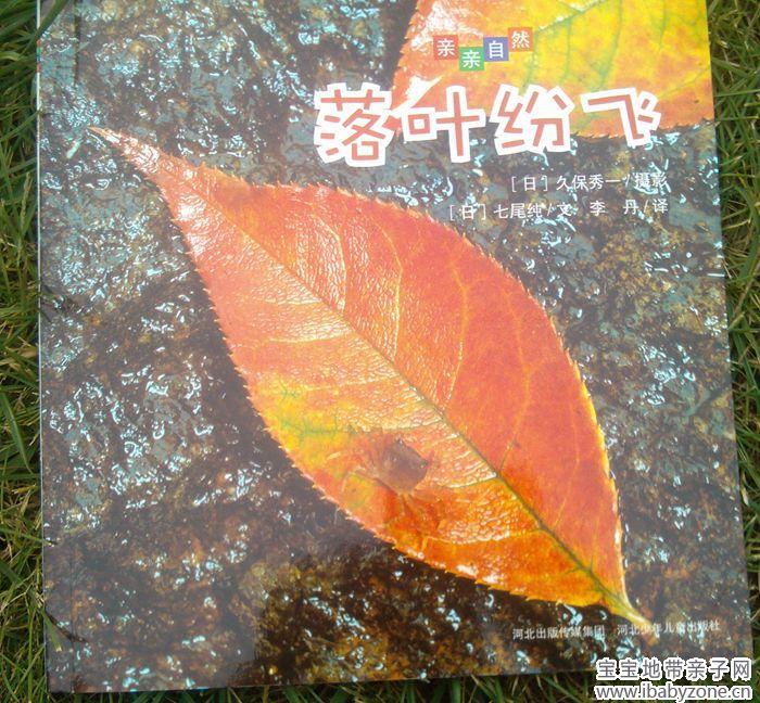 落叶风景彩色铅笔画