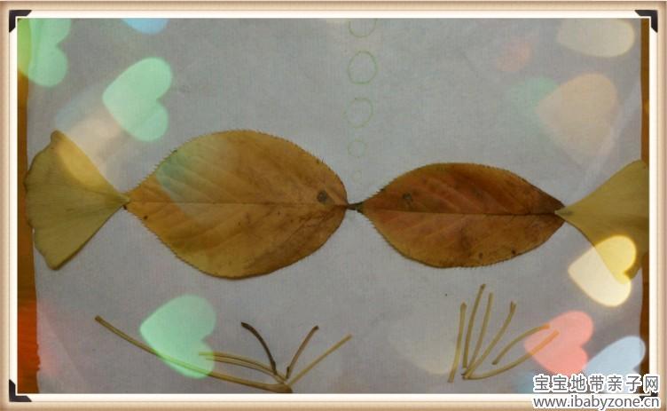 回来给家宝做树叶贴画喽~~~       用湿抹布把每片叶子都擦拭