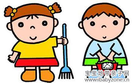 幼儿整理桌椅卡通图片