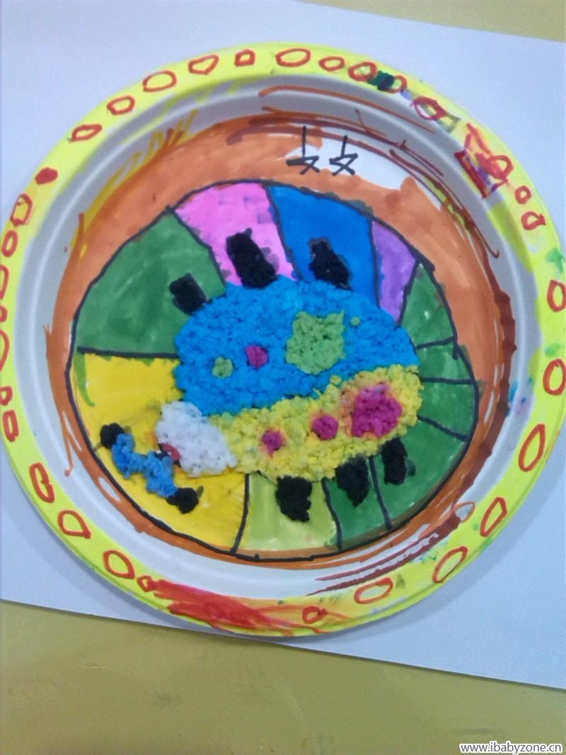 纸浆瓢上的手绘图案