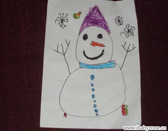 幼儿园作业——雪人