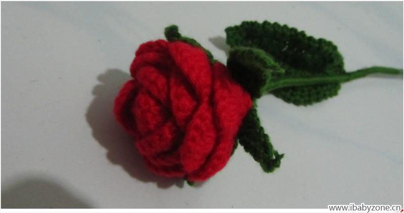 这个是钩玫瑰花的图解