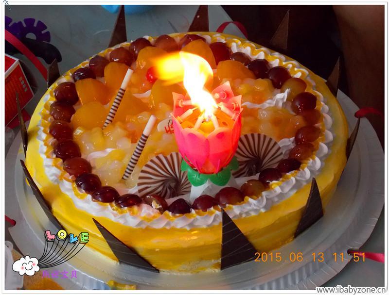 宝贝的一周岁生日蛋糕