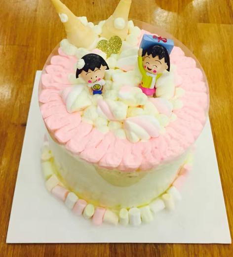 可爱的小丸子蛋糕