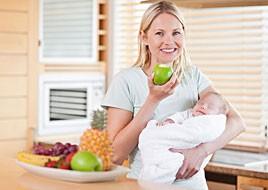 多吃果蔬和适当活动对新妈妈很重要