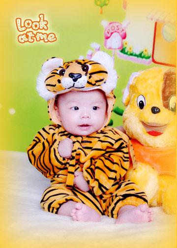 隆喜福儿童摄影_我的老虎装 - 宝宝地带