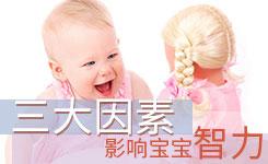 影响宝宝智力的三大因素