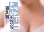 哺乳期不戴文胸會導致乳房下垂