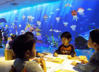 壁纸 海底 海底世界 海洋馆 水族馆 415_304