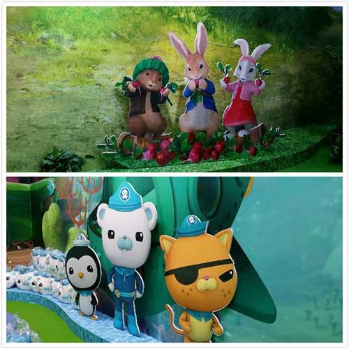 幸星动画展位《比得兔》和《海底小纵队》
